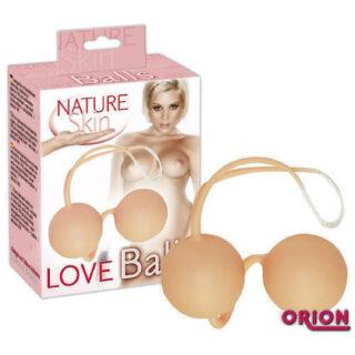 Шарики Вагинальные Nature Skin Loveballs (телесные)