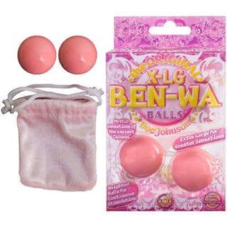 Вагинальные шарики Doc Johnson X-Large Ben Wa Balls, розовые