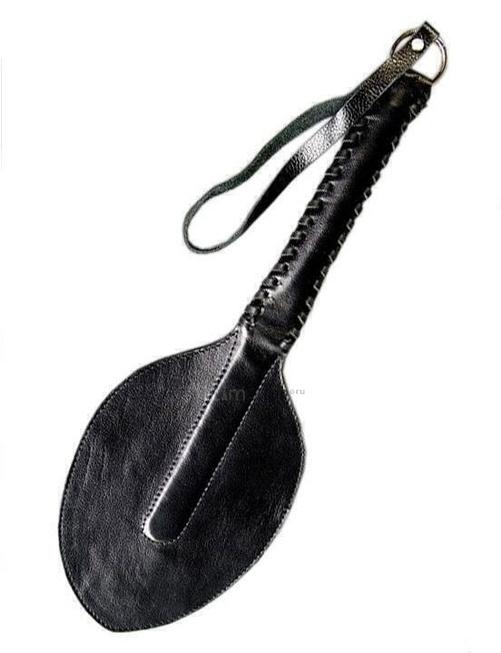 Шлепалка широкая чёрная