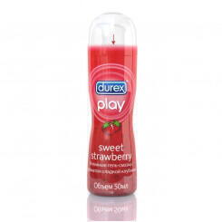 Смазка Durex Play Sweet Strawberry с ароматом клубники диспенсер 50 мл