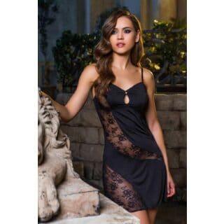Сорочка Короткая Mia-Mia Elegance de lux, черная S