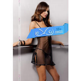 Сорочка прозрачная Casmir Kea black, S/M