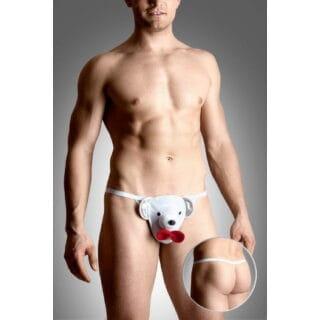 Стринги Мужские Soft Line Любящий Мишка белые, S-L