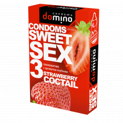 Презервативы Domino Sweet Sex Strawberry Cocktail