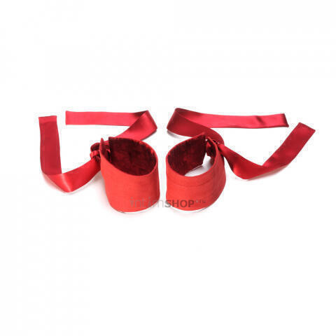 Шелковые наручники Lelo Etherea красный