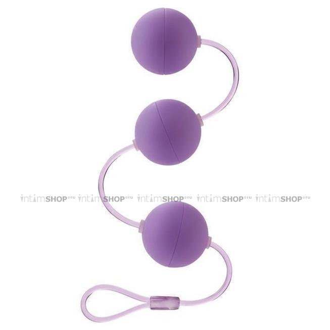Анальные шарики First Time California Exotic, фиолетовые