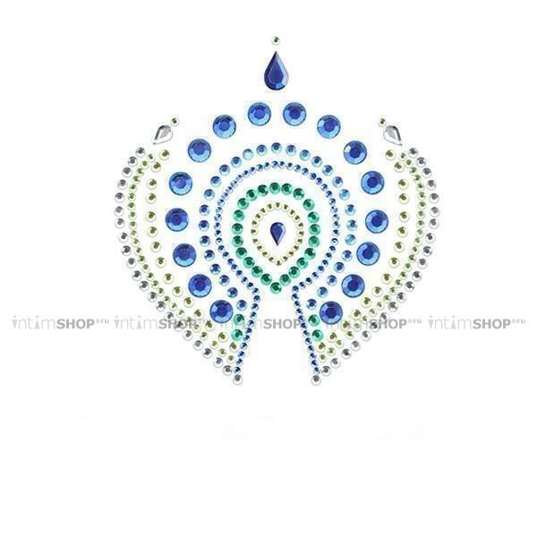 Украшение на Грудь Bijoux Indiscrets - Flamboyant, сине-зеленое
