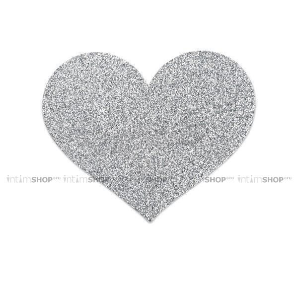 Украшение на Грудь Bijoux Indiscrets Flash Heart, серебрянное