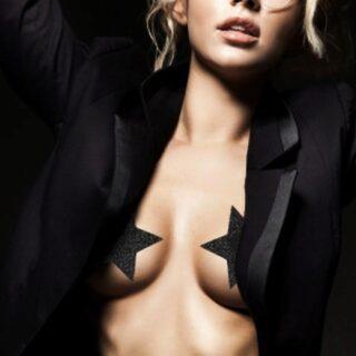 Украшение на Грудь Bijoux Indiscrets Flash Star, черное