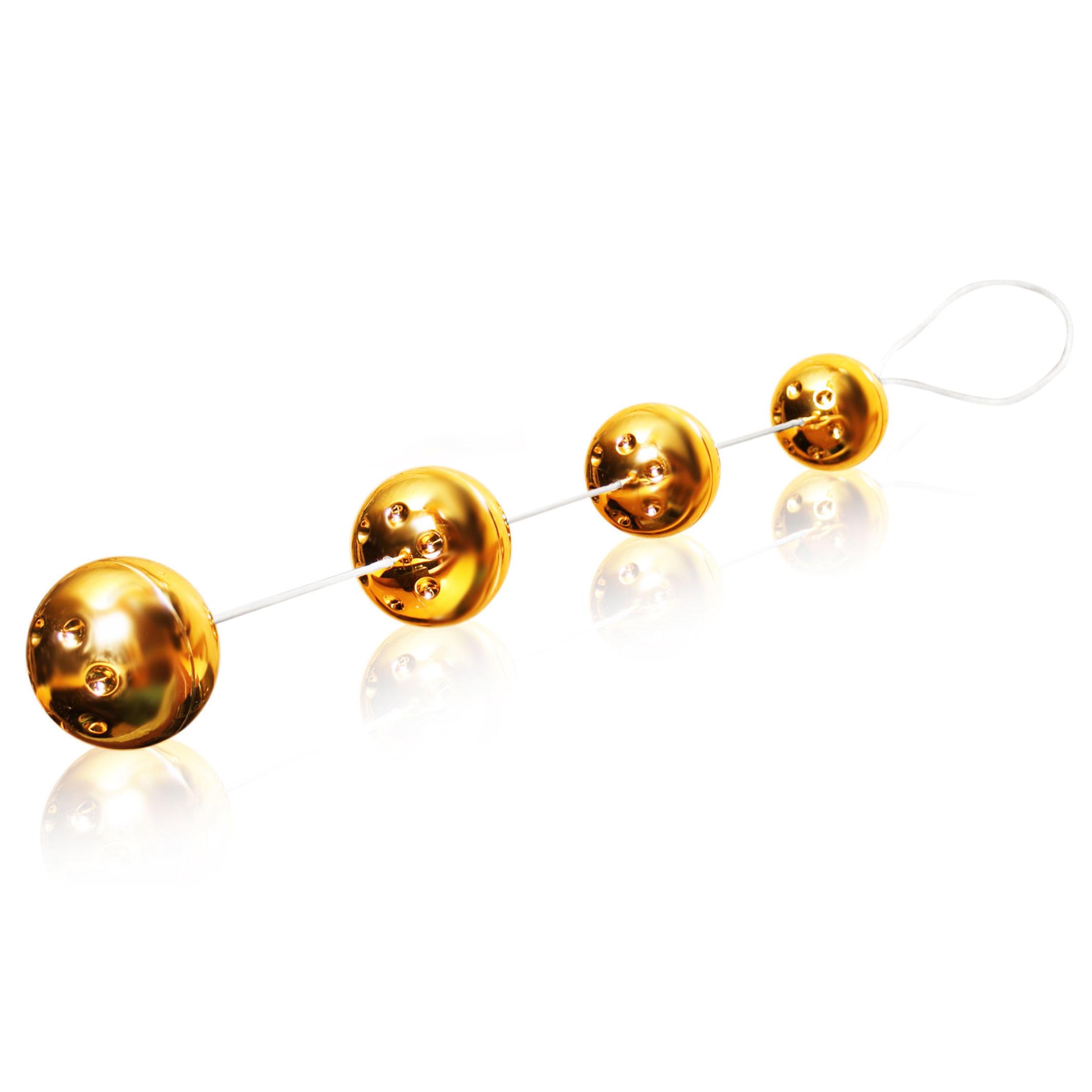 Вагинальные Шарики Gold Vibro Balls