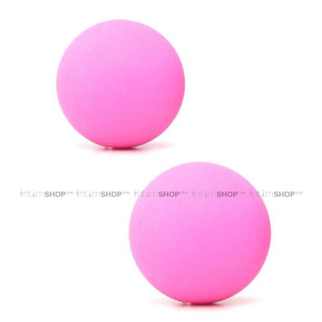 Вагинальные шарики металлические в силиконовой оболочке розовые