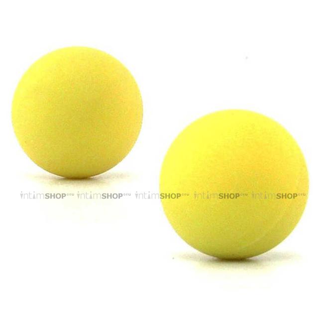 Вагинальные шарики металлические в силиконовой оболочке желтые