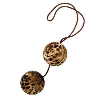 Вагинальные шарики The Leopard Duotone Balls леопардовые