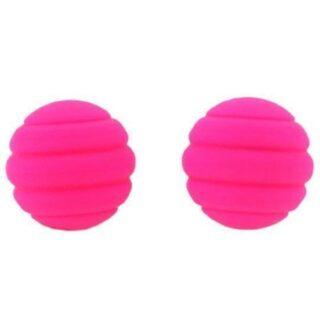 Вагинальные шарики Twistty ребристые розовые