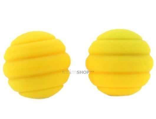 Вагинальные шарики Twistty ребристые желтые
