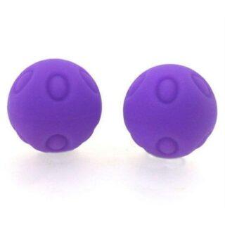Вагинальные шарики Wicked рельефные фиолетовые