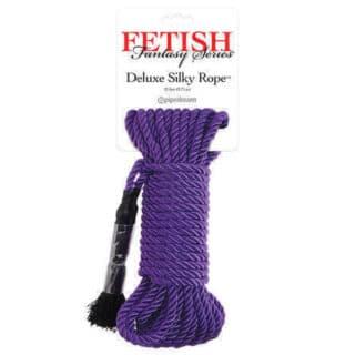 Веревка для фиксации Deluxe Silky Rope фиолетовая