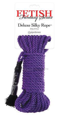 Веревка для фиксации Deluxe Silky Rope фиолетовая. Нет в наличии