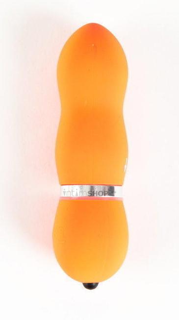 Вибратор Водонепроницаемый Sexus Funny Five оранжевый - 10 см