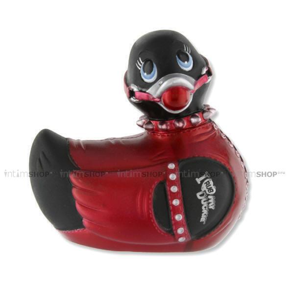 Вибромассажер  I Rub My Duckie Bondage-Travel Size, чернo-красный