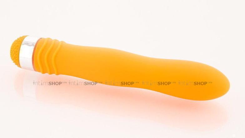 Вибромассажер Водонепроницаемый Sexus Funny Five оранжевый - 18 см