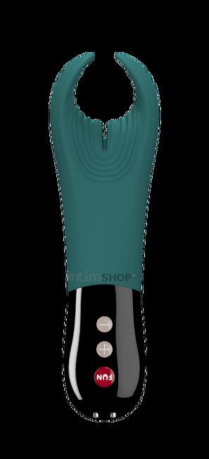 Вибромастурбатор Fun Factory MANTA VIBRATING STROKER, темно-бирюзовый