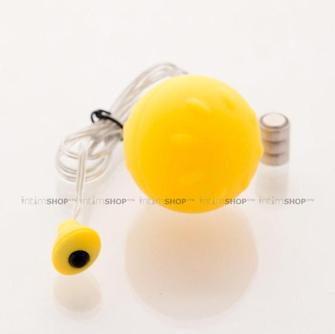 Виброяйцо Sexus Funny Five желтое - 4.5 см