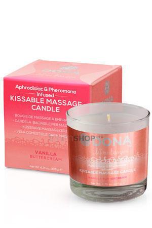 Вкусовая массажная свеча DONA Kissable Massage Candle Vanilla Buttercream 135 г