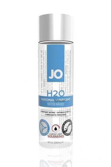Возбуждающий и согревающий лубрикант на водной основе JO H2O Warming, 240мл