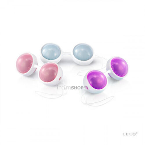 Вагинальные шарики на сцепке Lelo Luna Beads Plus, разноцветные