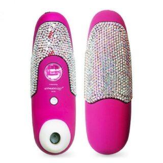 Womanizer Бесконтактный клиторальный стимулятор, розовый с кристаллами Сваровски