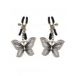 Зажимы на соски PipeDream Butterfly Nipple Clamps, серебристые
