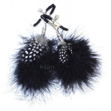 Зажимы на соски Feather Nipple Clamps чёрный