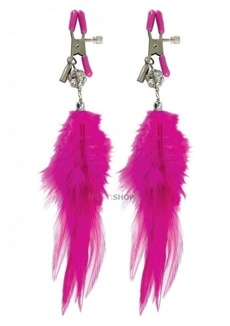 Зажимы на соски PipeDream Fancy Feather розовый