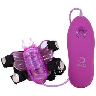 Вибромассажер-бабочка на пульте Seven Creations Micro Butterfly, розовый