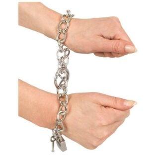 Металлические наручники-цепь Bad Kitty Metal Handcuffs