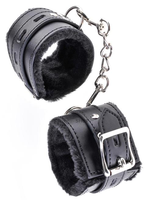Наручники на цепочке Fetish Fantasy Limited Edition Cumfy Cuffs  с мехом черные.