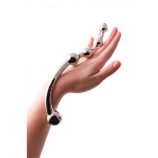 Анальный стимулятор Hard Beads ToyFa Metall, серебристый