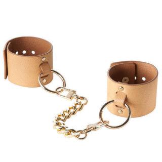 Браслеты - наручники Bijoux Indiscrets Wide Cuffs, коричневые