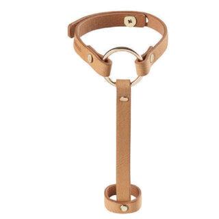 Наручники Bijoux Indiscrets MAZE- Hand Braslet Harness, коричневые