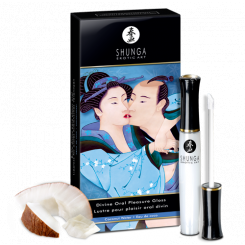 Блеск для губ 3 в 1 Shunga Oral Pleasure Gloss Кокос, 10 мл