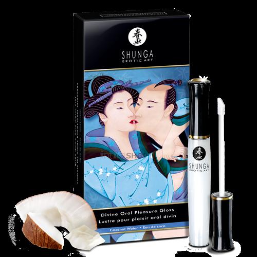 Блеск для губ, усиливающий ощущения от орального секса - Божественное Удовольствие. Кокос - 10 мл.