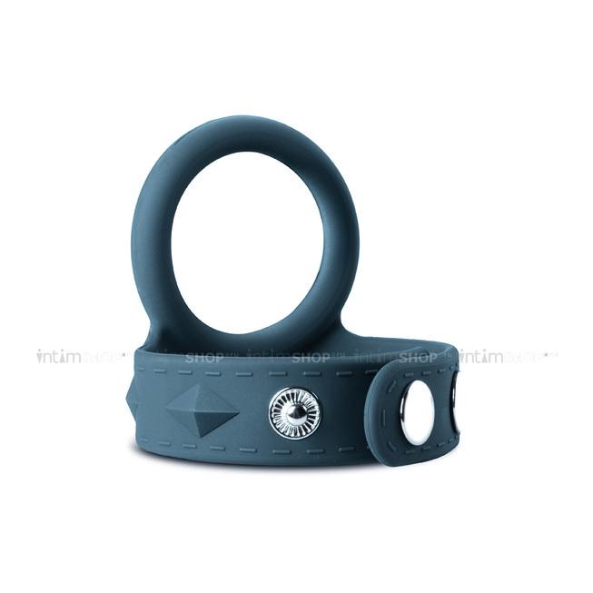 Эрекционное кольцо с ремешком для мошонки EDC Wholesale Boners, L, серый фото