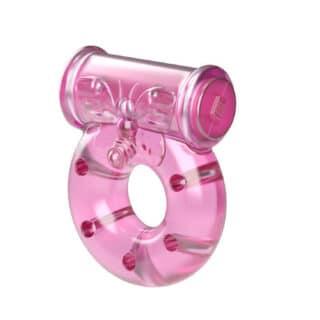 Эрекционное виброкольцо Baile Бабочка, розовый