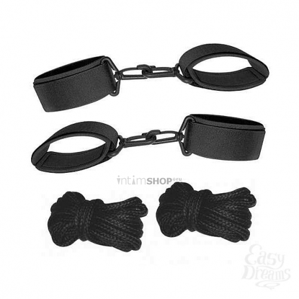 Наручники и веревки JoyDivision SexMAX Startertest в наборе, 4 предмета в упаковке