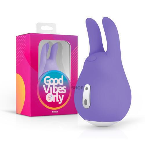 Клиторальный стимулятор Good Vibes Only Tedy, фиолетовый