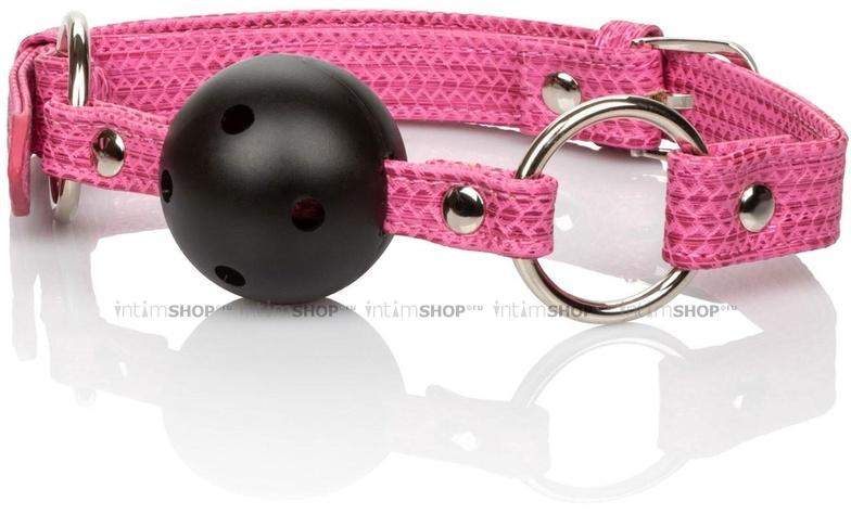 Кляп-шарик California Exotic Novelties Tickle Me Pink розовый.