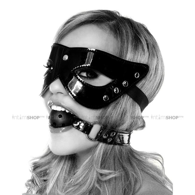 Комплект Masquerade Mask & Ball Gag из маски и кляпа черный