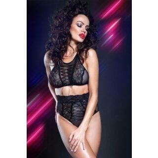 Комплект с высокими трусиками Look At Me collection Mireille, чёрный, L