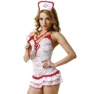 Костюм Le Frivole Медсестры кружевной, XL/2XL